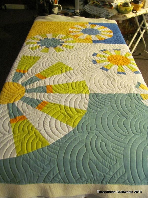 "It's great to see how another quilter made my design, ""Twirling Parasols"" Quilt Pattern from the Sewing With Nancy ""Sew Grand Dresdens"". Nice job!"