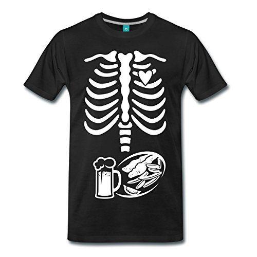 Schwangerschaft Skelett Papa Männer T-Shirt Karneval Fasching | ca €23
