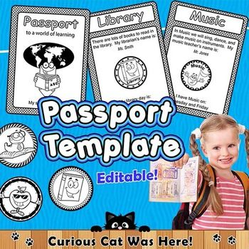 Back to school activity for the first day of school.  Tour the school with a fun passport.