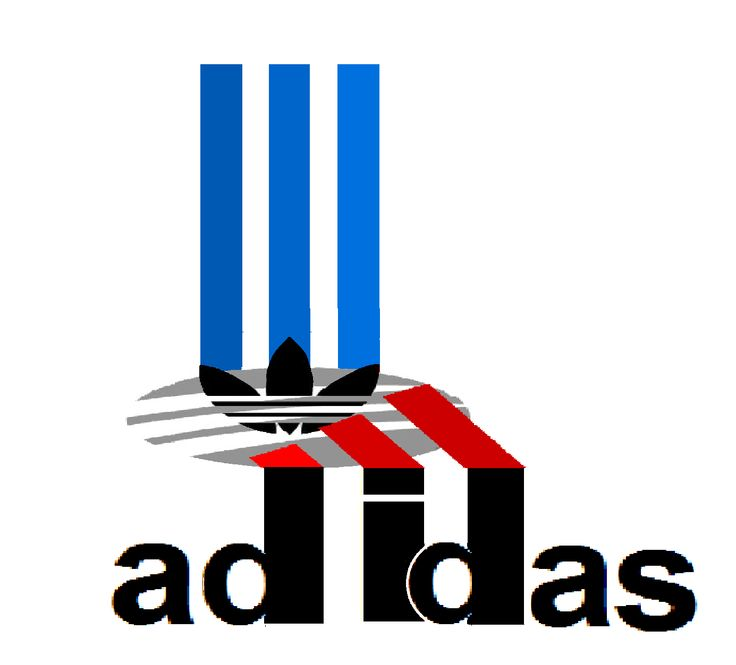 adidas logo in 3d