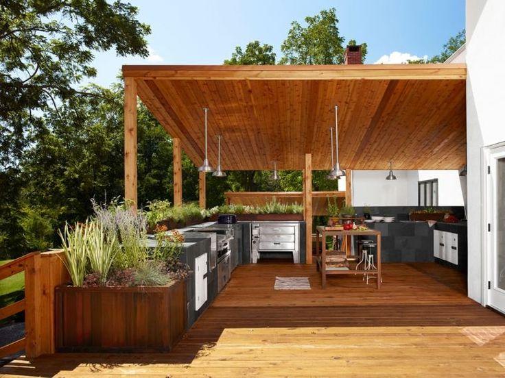 Sommer-Outdoor-Küche: 50 moderne Beispiele für eine kleine Vorstellung   – La vitteloise