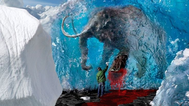 """Mammoth Found with """"Flowing Blood""""... disproves Darwin Theory of Evolution! They don't want you to know Creationism, Jesus Christ, is truth!!! What else have they lied about to all of us?"""