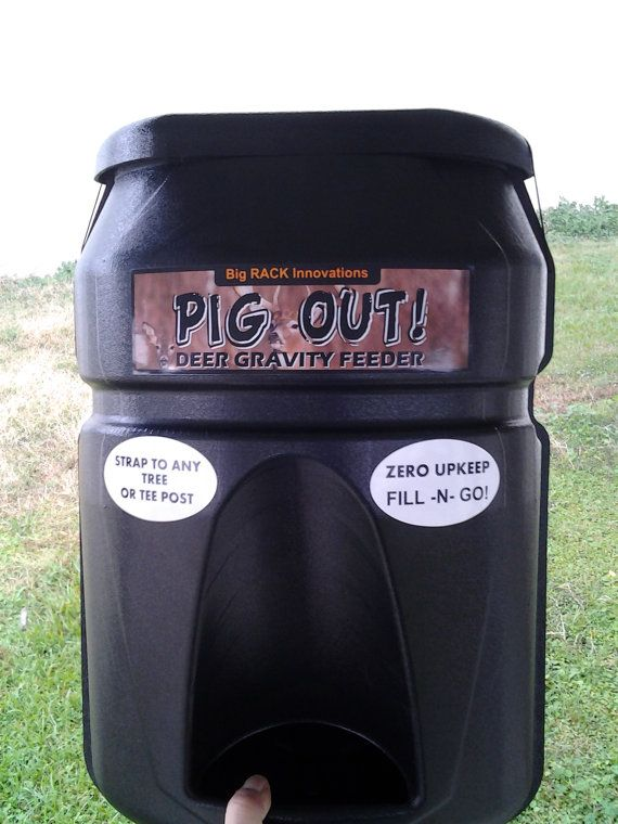 Pig Out Deer Gravity Feeder  Keeps The Hogs Out Also by DiversiFab