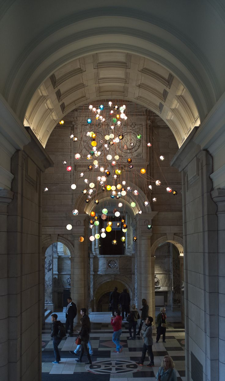 Bocci | 28.280 | Amazing 30M tall contemporary chandelier by Omer Arbel for the…
