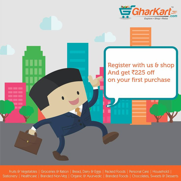 Hurry up! Register & shop with us and get amazing deals. A wide range brands now available at Gharkart. To know more about offers Visit: Gharkart.com Today! #Gharkart #Onlineshopping #Groceries #Fruits #Vegetables #FreeDelivery #FastDelivery #HomeDelivery