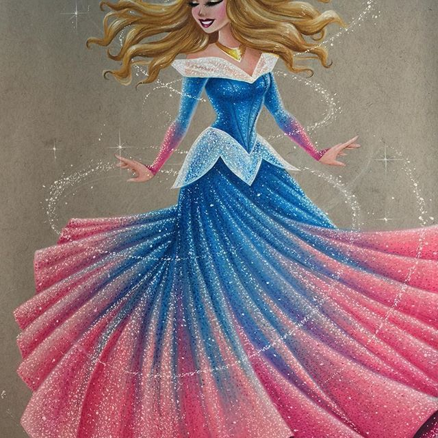 """""""Full View Aurora"""" ❤️ Some of you wanted to see a full view of this piece so here ya go!!  #Aurora #princessaurora #briarrose #makeitpink #makeitblue #makeitpinkmakeitblue #prismacolor #prismacolorpencils #strathmore #tonedgray"""