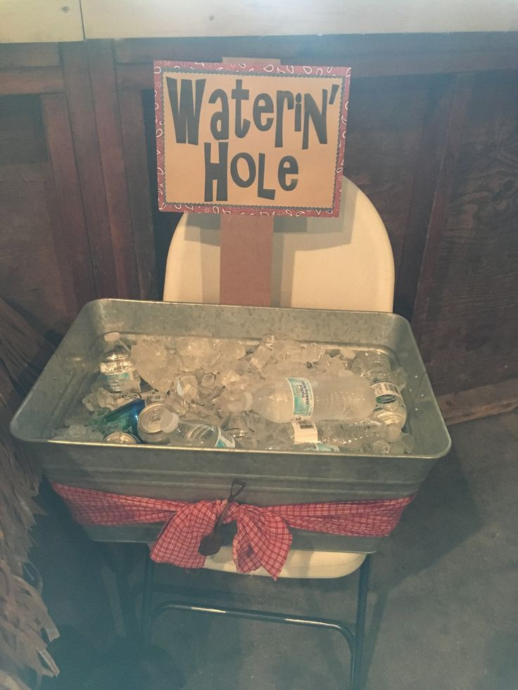 Western Party Theme Wild Wild West Waterin' Hole for drinks
