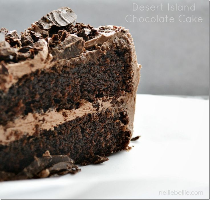 Desert Island Chocolate Cake: a NellieBellie recipe. a chocolate cake recipe from scratch.
