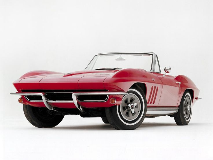 "Corvette History 6/20 - The 1965 Corvette came with four-wheel disc brakes and a ""big block"" engine option. It included what became a common Corvette feature: retractable headlamps."