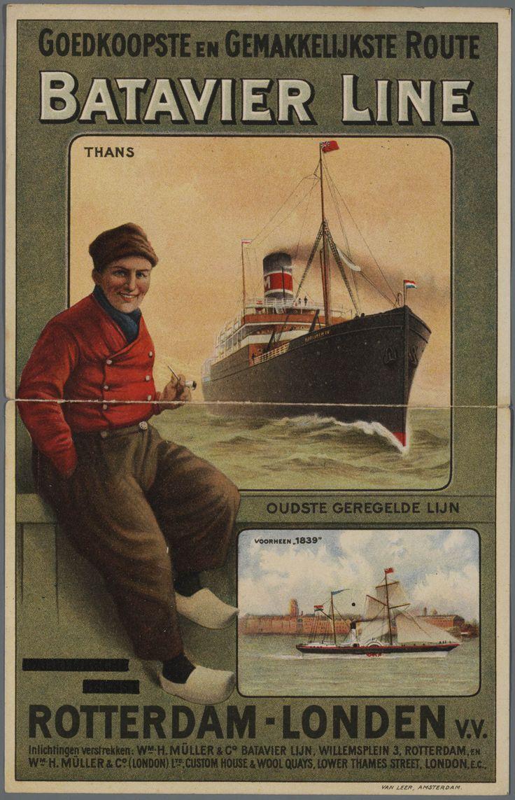 Batavier Line:Oude Hollandse reclameposters