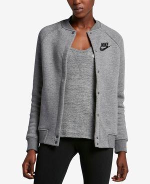 Nike Sportswear Varsity Rally Jacket - Carbon Heather XL