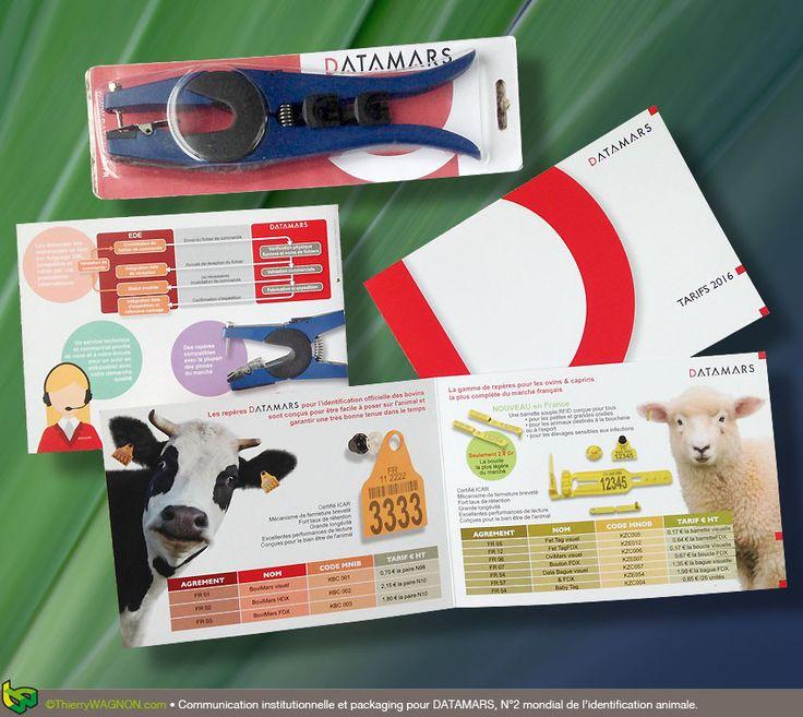 Communication institutionnelle et packaging pour Datamars, N°2 mondial de l'identification animale.