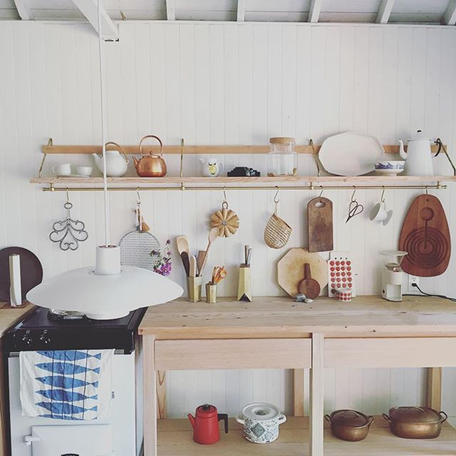 """""""Scanadian"""" a word we throw around in the shop is the best way to describe the kitchen at the cottage. #mjolk"""