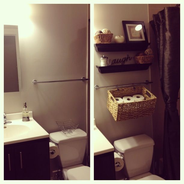 Small bathroom before and after around the house pinterest
