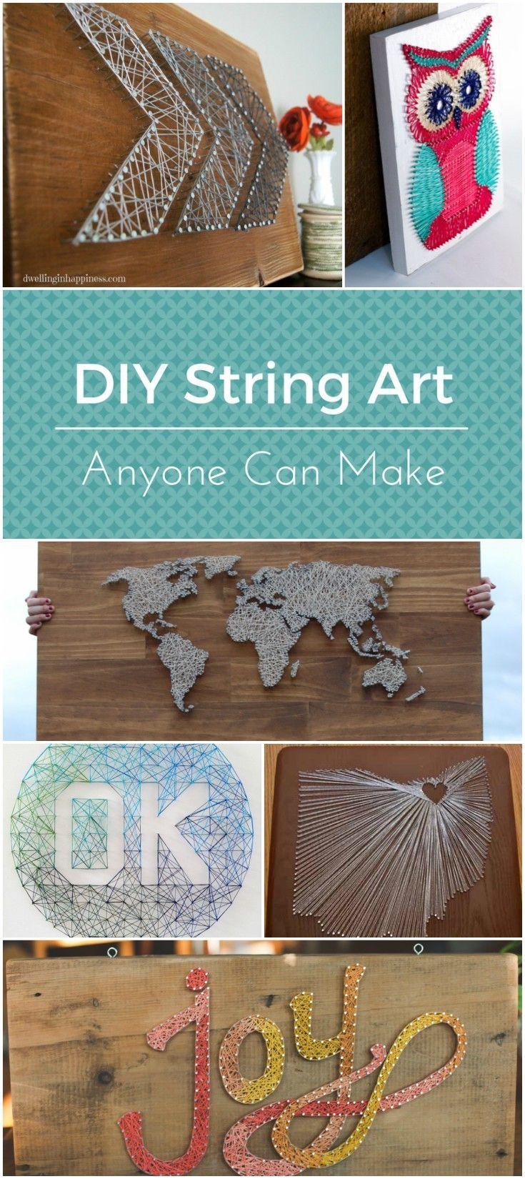 DIY string art designs anyone can make