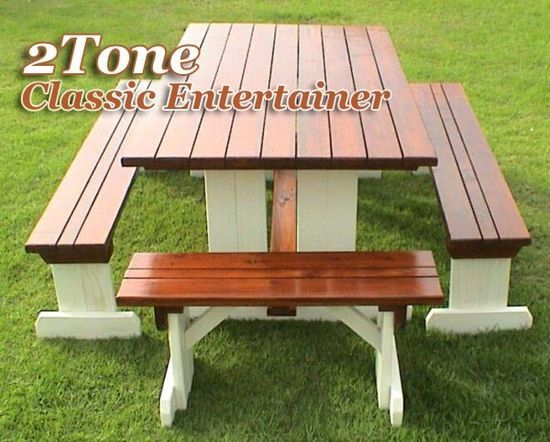 two tone picnic tables