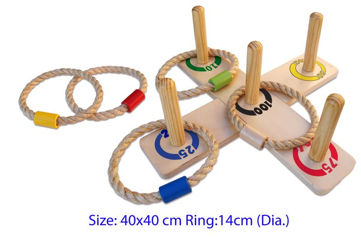 Wooden Ring Toss - $24 A fantastic toy! Great for gross motor skills and so much more Board measures 40cm x 40cm and the rings are 14cm each 3yrs +