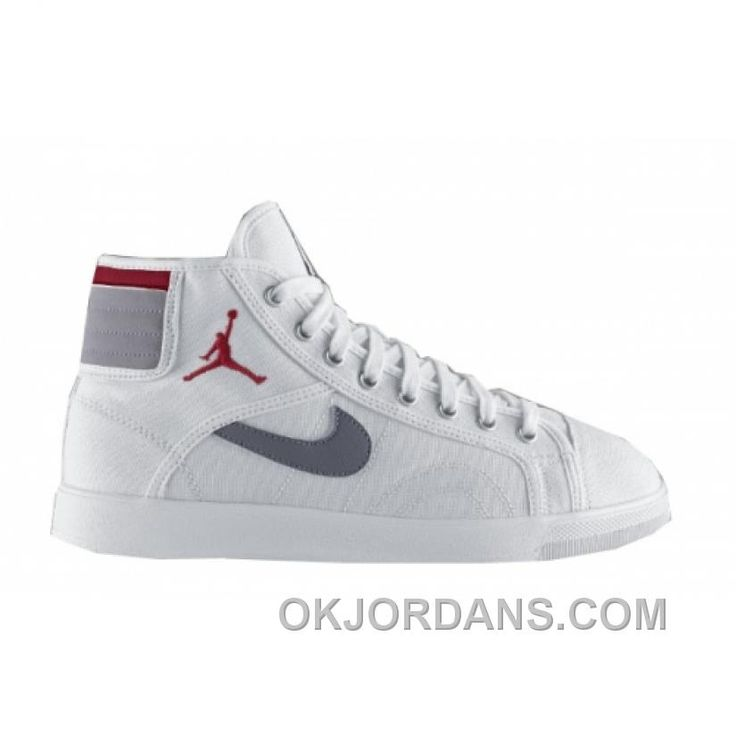 Jordan Unisex's Basketball Shoes Air Sky High Canvas White / Varsity Red-Cement Grey