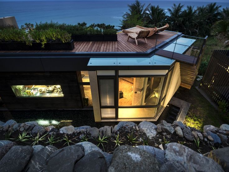 Steep Site Home Terraced onto Three Levels