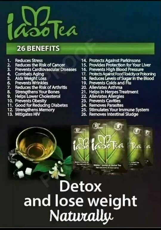 This tea has a mild taste (unlike other detox teas)and does what they say. After my first week using the product, I lost weight and experienced increased energy. Thanks IASO TEA!!!