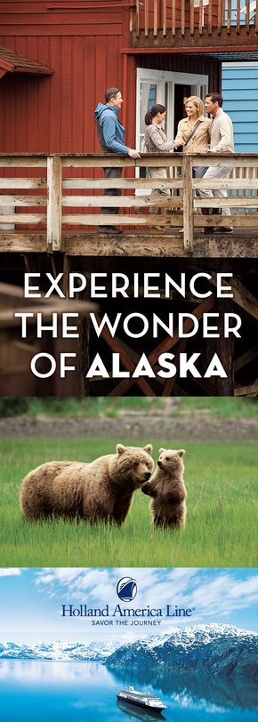 Cruise to Alaska with Holland America Line and let our 70+ years of experience guide you. Marvel at breathtaking coastline carved by massive tidewater glaciers over thousands of years. See iconic wildlife in their natural habitats. Experience fascinating native cultures and Klondike Gold Rush history. The Great Land will amaze, engage and delight you. Choose from itineraries lasting 7–14 days, including Land+Sea Journeys that take you into the vast Yukon Territory and Glacier National Park.