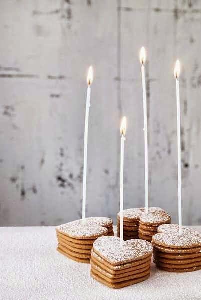 valentine's dessert idea - heart-shaped cookies