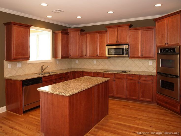 cherry wood kitchen cabinets. 90 best Cherry Color Kitchens images on Pinterest  kitchen cabinets wood kitchens and Dark