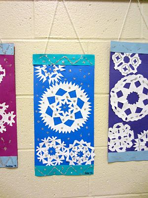 School hall art idea for winter.