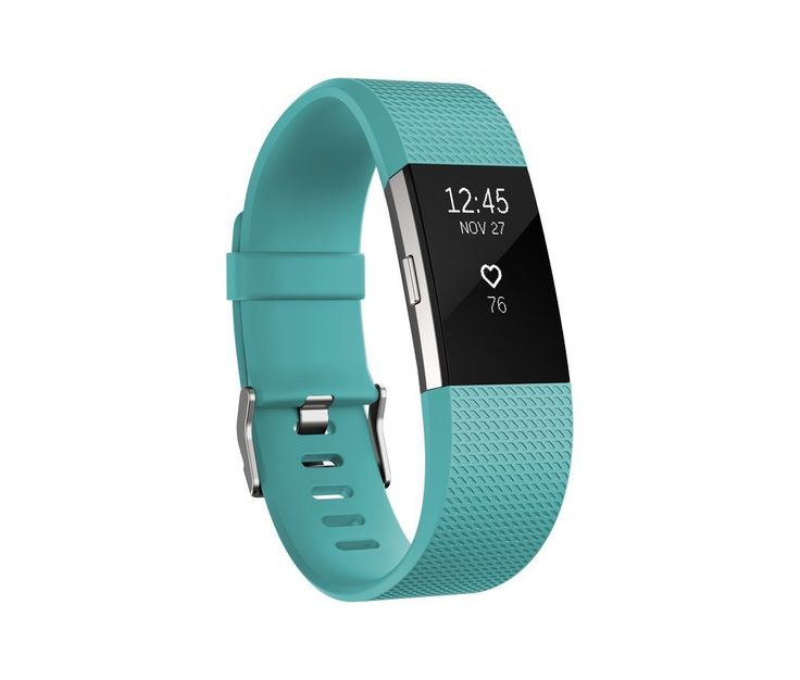 Fitbit Charge 2 Heart Rate Fitness Wristband, Teal, Large US Version