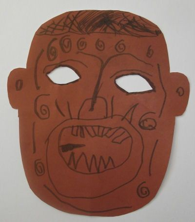 Maori tattoo mask craft activity