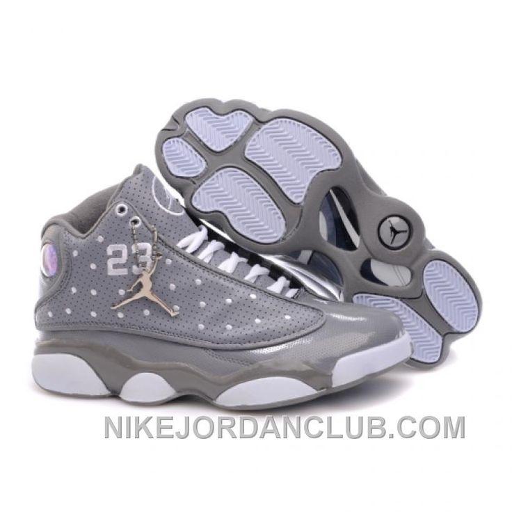 http://www.nikejordanclub.com/air-jordan-retro-13s-shoes-grey-white.html AIR JORDAN RETRO 13S SHOES GREY WHITE Only $75.00 , Free Shipping!