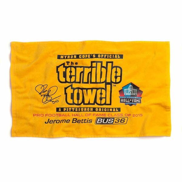 Picture of Pittsburgh Steelers Jerome Bettis Hall of Fame Terrible Towel