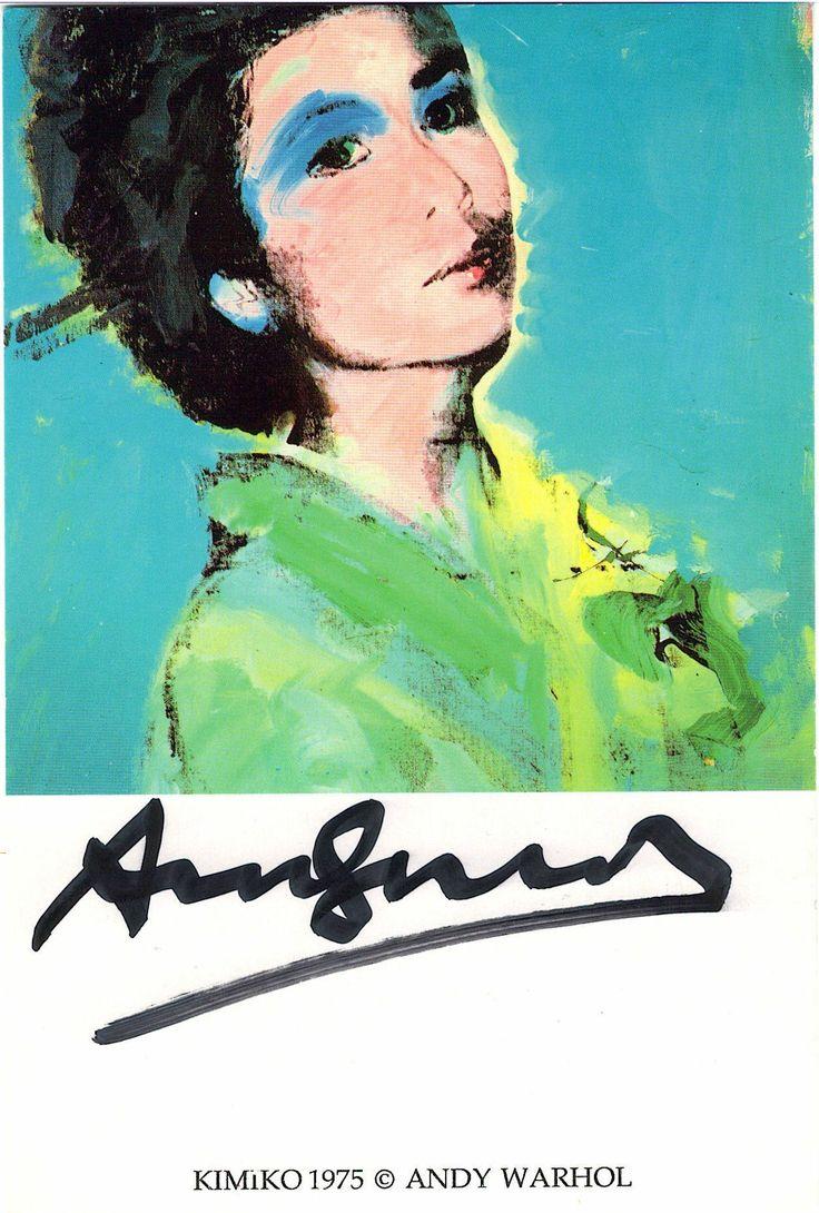 Andy Warhol   Kimiko 1975   Signed Postcard   15 x 10 cm