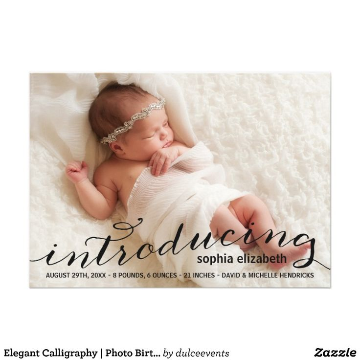 302 best Baby Birth Announcement Cards images on Pinterest Birth