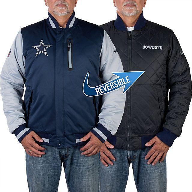 NFL Dallas Cowboys Nike Defender Reversible Jacket - 2 looks for the price of 1 jacket! - shop.dallascowboys.com