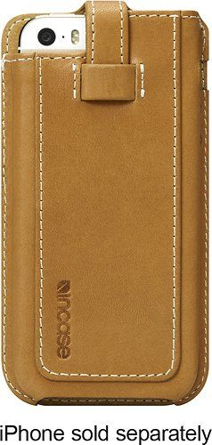 Incase Leather Fitted Sleeve for iPhone 5s/5c - Retail Packaging - Brown/Tan. Incase Leather Fitted Sleeve for iPhone 5S & 5C. Premium full grain leather. Genuine soft suede interior lining. Brown / Tan. Item Dimensions: weight: 4, width: 275, height: 50. Hand crafted form fitted design.