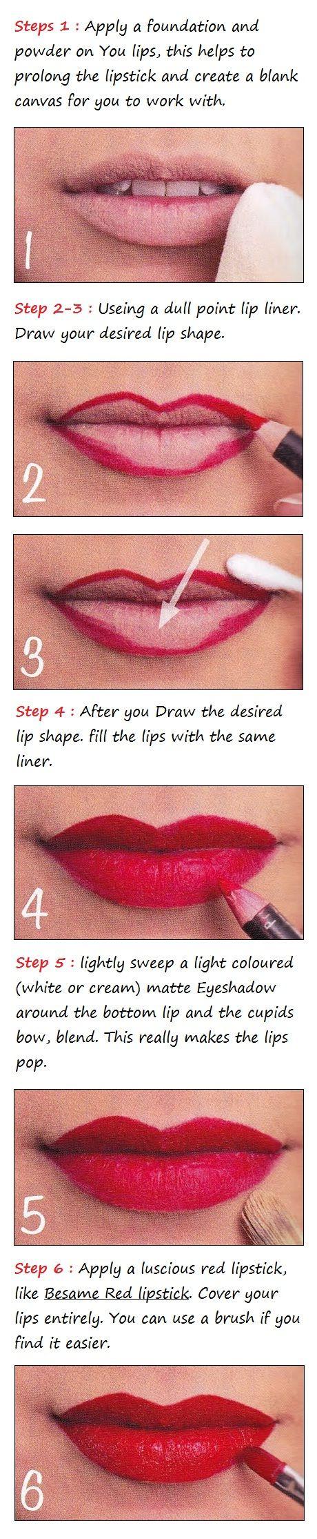 Glamorous Red Lips Tutorial | Beauty Tutorials