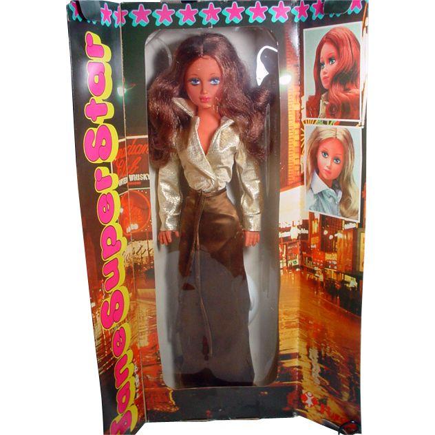 Rare NRFB Furga Jane Super Star (Jane Fonda) Fashion Doll, Italy, 1970's! $450