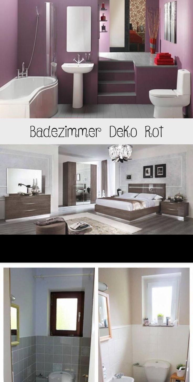 Badezimmer Deko Rot 21st