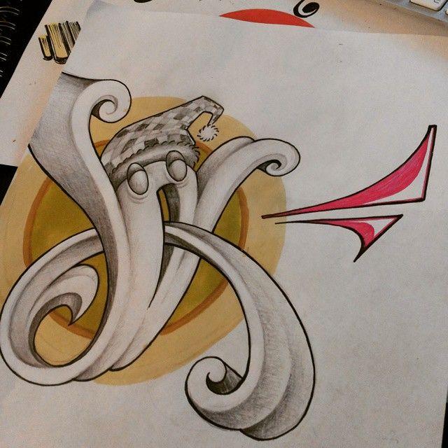 Skulle bli en bokstav men vart nått annat #drawing #sketch #västerås