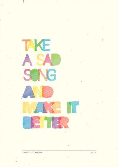 Hey Jude em Cartazes Tipográficos | Criatives | Blog Design, Inspirações, Tutoriais, Web Design