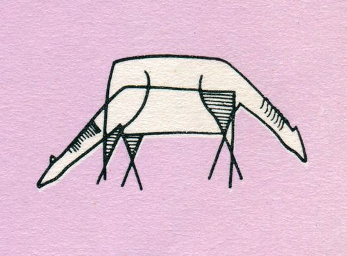 Horses, from Graphic Design in Architectural Renderings, 1960. Drawings by Gerd Zimmerschied.