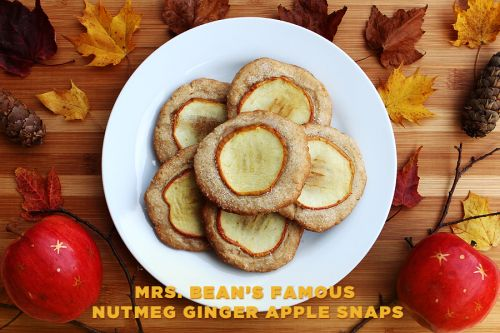 mrs. bean's famous nutmeg ginger apple snaps! from fantastic mr. fox