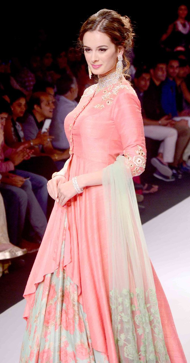 The gorgeous Indo Brit #Bollywood actor @evelyn_sharma at the India International Jewellery Week 2015.