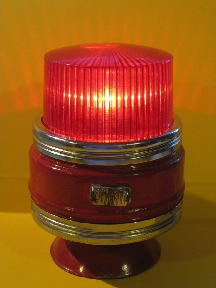 Vintage Toy Bbb Light Suction Cup Police Siren Emergency