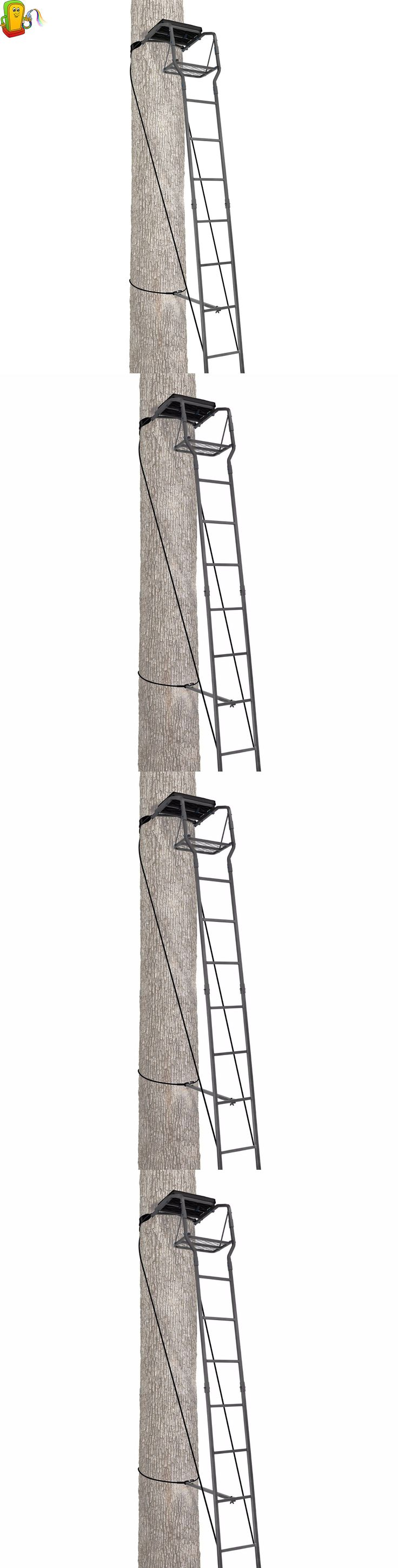 Tree Stands 52508: Deer Hunting Ladder Tree Stand Sniper Rifle Bow Treestand Man Climbing -> BUY IT NOW ONLY: $77.84 on eBay!