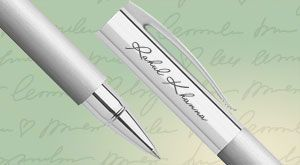 Faber Castell - Ambition Brushed Steel Roller Ball Pen #personalized-luxury-accessories