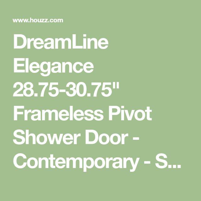 "DreamLine Elegance 28.75-30.75"" Frameless Pivot Shower Door - Contemporary - Shower Doors - by RTA Cabinet Store"