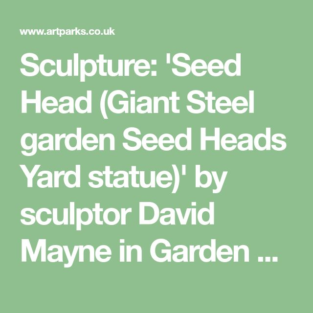 Sculpture: 'Seed Head (Giant Steel garden Seed Heads Yard statue)' by sculptor David Mayne in Garden Or Yard / Outside and Outdoor Sculptures - Garden Sculpture for sale - ArtParkS Sculpture Park - Bringing Sculpture into the Open