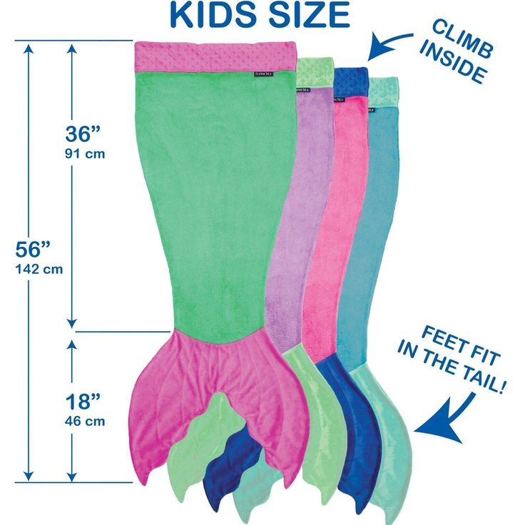 Mermaid Tail Blanket for Kids - Ombre Design